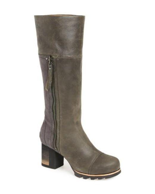 Sorel | Gray 'addington' Waterproof Boot | Lyst