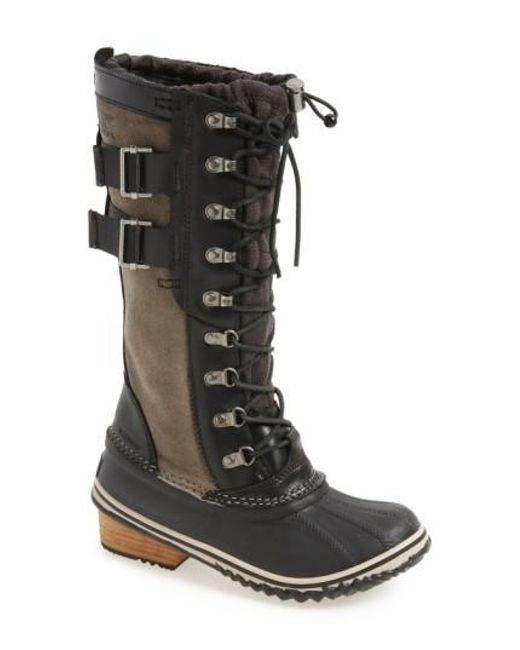 Sorel | Black 'conquest Carly Ii' Waterproof Mid Calf Boot | Lyst