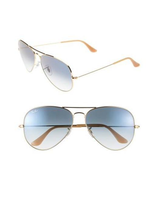 Ray-Ban | Blue Large Original 62mm Aviator Sunglasses | Lyst