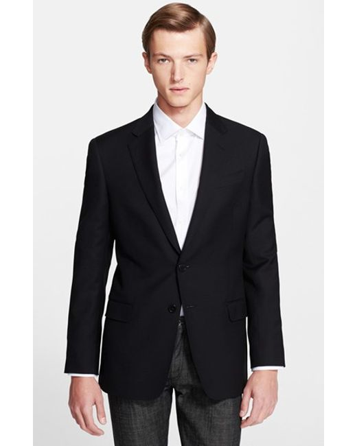 Armani | Black 'g-line' Trim Fit Wool Blazer for Men | Lyst