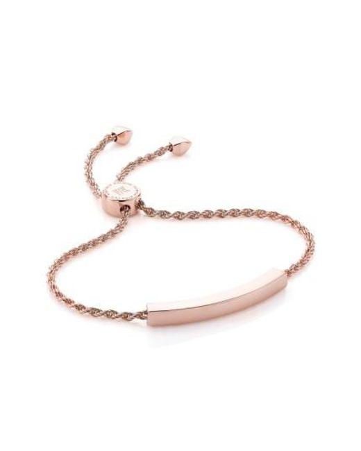 Monica Vinader   Metallic 'linear' Friendship Chain Bracelet   Lyst