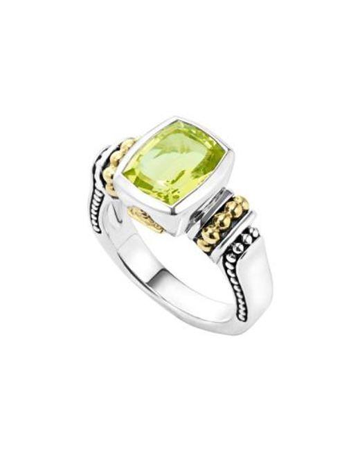 Lagos | Green 'caviar Color' Small Semiprecious Stone Ring | Lyst