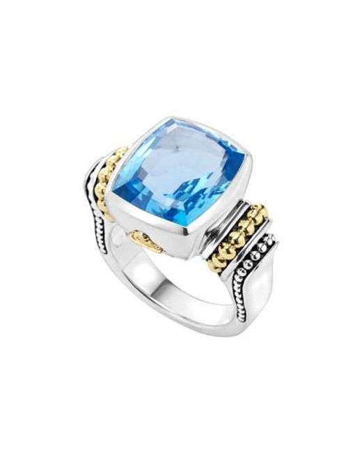Lagos | Blue 'caviar Color' Medium Semiprecious Stone Ring | Lyst