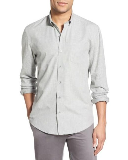 W.r.k.   Gray 'reworked' Trim Fit Sport Shirt for Men   Lyst