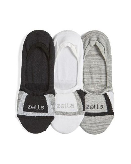 Zella | 3-pack Low Profile Socks, White | Lyst