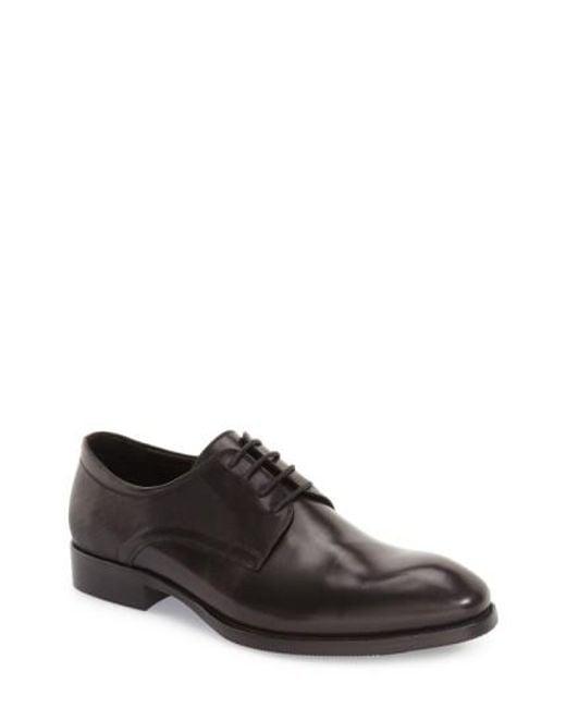 Zanzara | Black 'bruckner' Plain Toe Derby for Men | Lyst