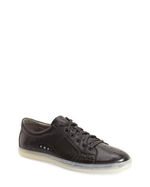 Zanzara   Black 'drum' Lace-up Sneaker for Men   Lyst