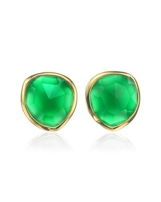 Monica Vinader   Metallic 'siren' Semiprecious Stone Stud Earrings (nordstrom Exclusive)   Lyst