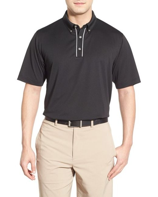 Lone Cypress Pebble Beach | Black Stripe Moisture Wicking Golf Polo for Men | Lyst