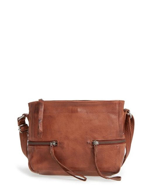 Day Amp Mood Hannah Leather Crossbody Bag In Brown Lyst