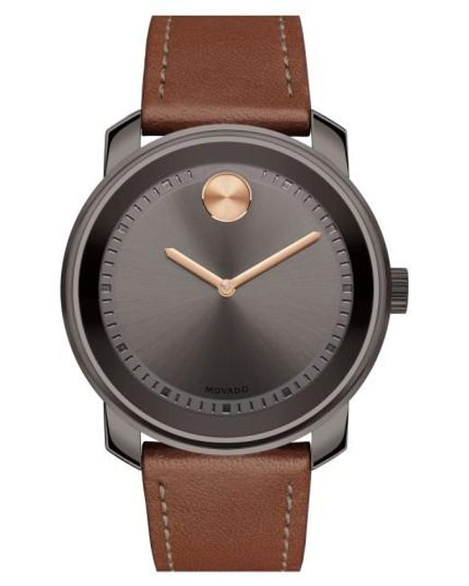 Movado | Multicolor 'bold' Leather Strap Watch for Men | Lyst