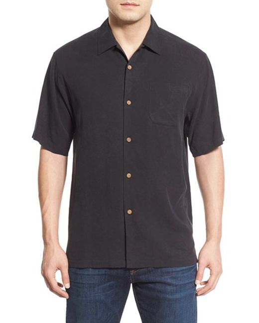Tommy bahama 39 to zin or not to zin 39 embroidered silk camp for Tommy bahama embroidered silk camp shirt