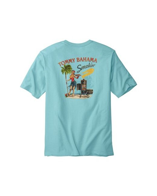 Tommy Bahama 39 Smokin 39 Graphic T Shirt In Blue For Men