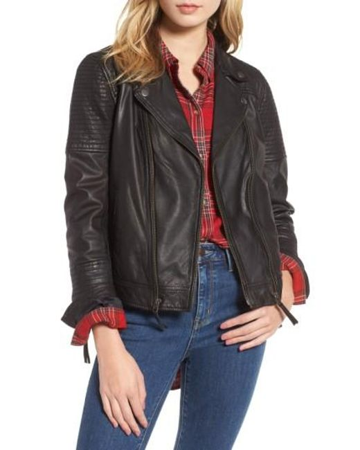 Treasure & Bond | Black Quilted Leather Moto Jacket | Lyst