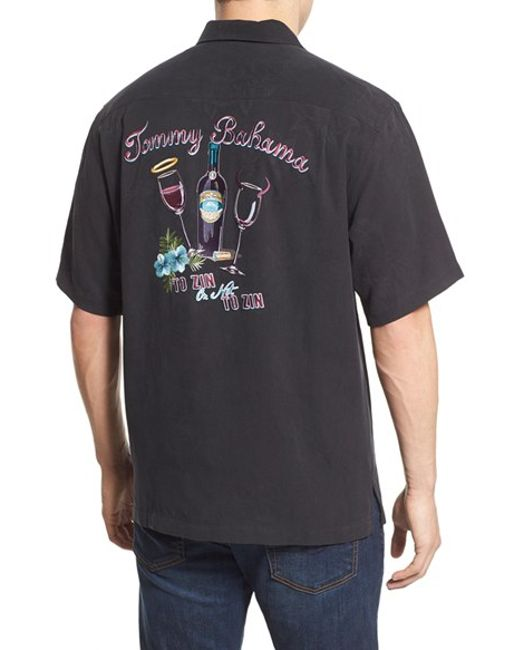Tommy Bahama 39 To Zin Or Not To Zin 39 Silk Camp Shirt In