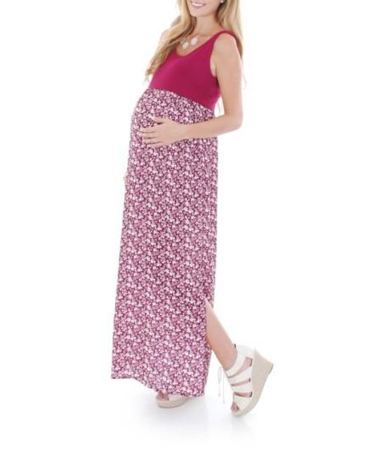 Everly Grey | Pink 'maisie' Maternity Maxi Dress | Lyst