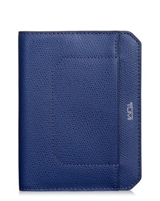 Tumi | Blue Leather Passport Cover | Lyst