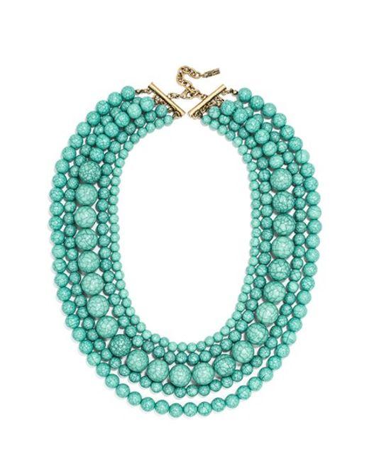 Baublebar Globe Multistrand Beaded Necklace Turquoise