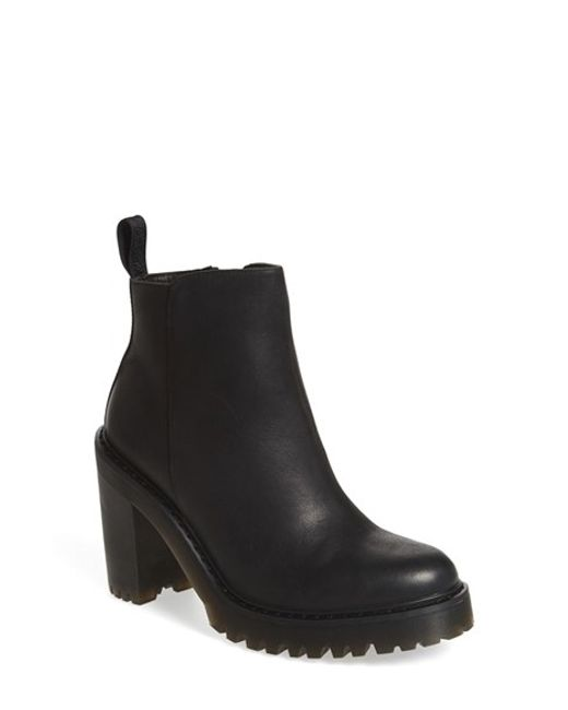 Dr. Martens | Black Magdalena Leather Ankle Boots | Lyst