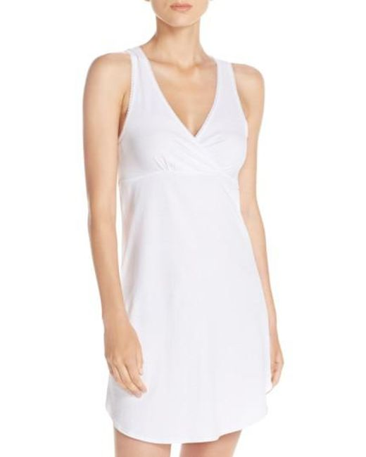 Naked | White Stretch Cotton Chemise | Lyst