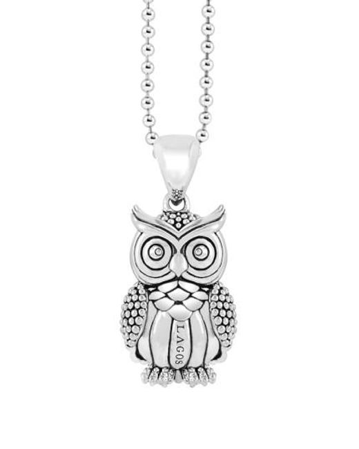 Lagos   Metallic 'rare Wonders - Owl' Long Talisman Necklace   Lyst