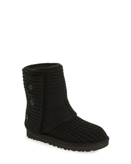 UGG | Black Ugg Classic Cardy Ii Knit Boot | Lyst