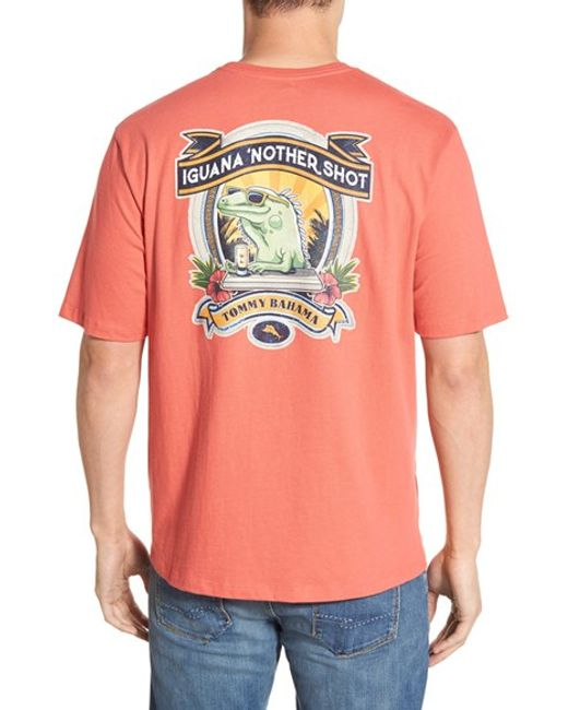 Tommy Bahama 39 Iguana Nother 39 Graphic T Shirt In Pink For