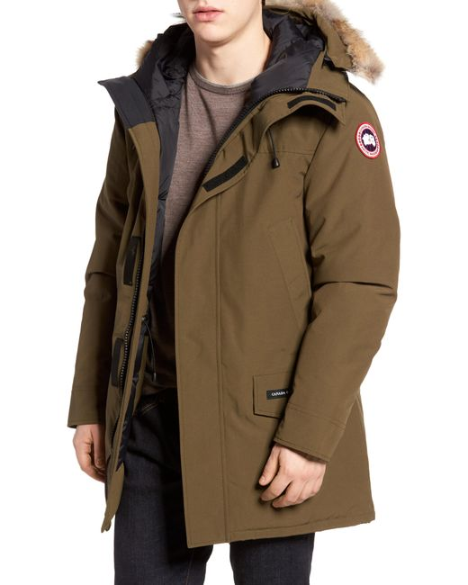 Canada Goose - Green Langford Slim Fit Down Parka With Genuine Coyote Fur Trim for Men - Lyst