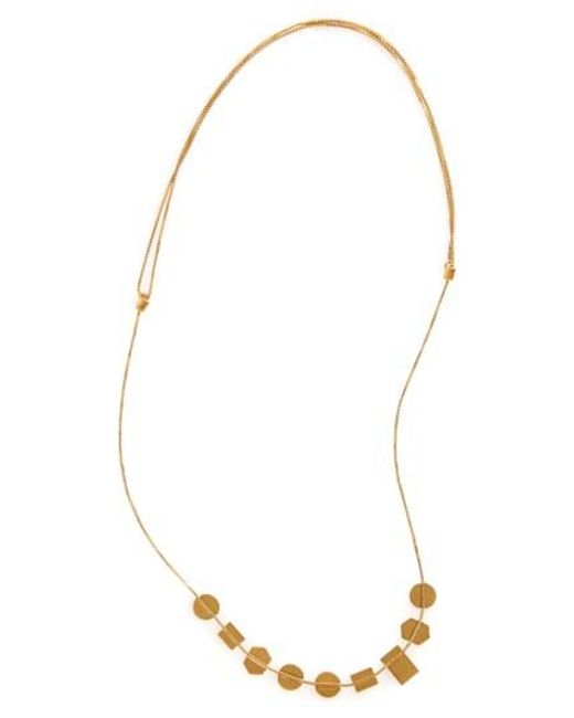 Madewell | Metallic 'holding Pattern' Necklace | Lyst