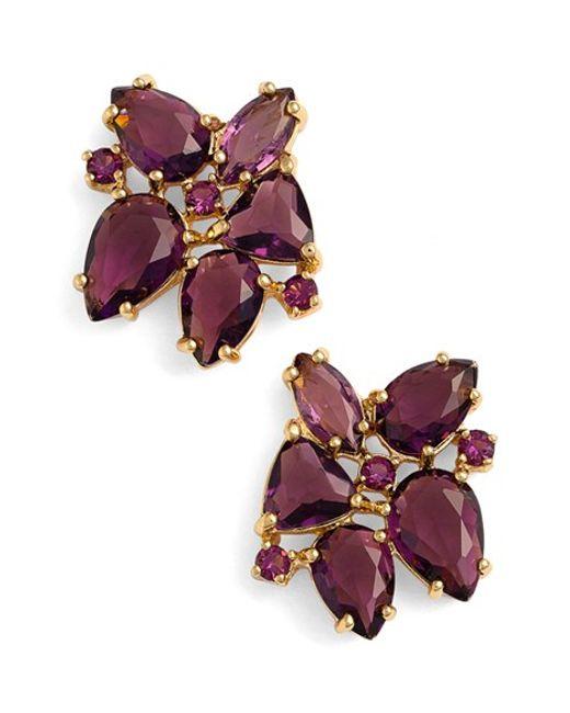 Kate Spade | Pink Cluster Stud Earrings | Lyst