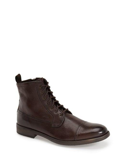 Geox | Brown 'jaylon Mid' Cap Toe Boot for Men | Lyst