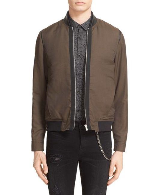 The kooples Bomber Jacket in Brown for Men