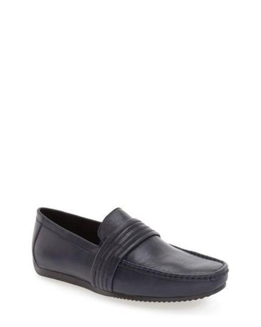 Zanzara | Blue 'van Eyck' Moc Toe Loafer for Men | Lyst
