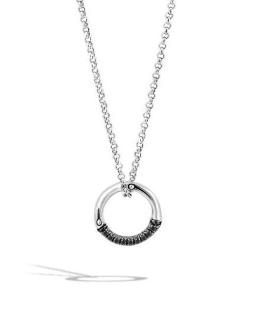 John Hardy | Metallic 'bamboo - Lava' Circle Pendant Necklace | Lyst
