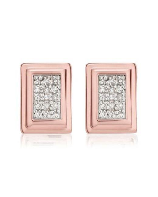 Monica Vinader | Pink Baja Deco Diamond Stud Earrings | Lyst