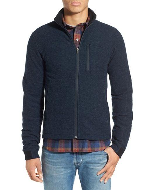 Ibex Scout Jura Merino Wool Blend Zip Jacket In Blue For