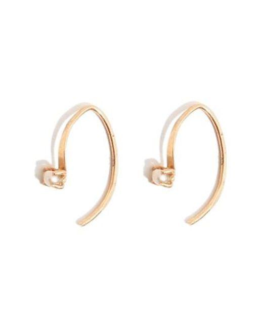 Melissa Joy Manning | Metallic 'mini Wishbone' Pearl Hoop Earrings | Lyst