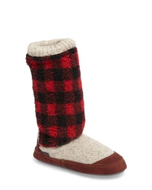 Acorn | Brown Slouch Slipper Boot | Lyst