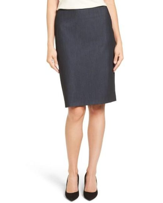 Anne Klein | Multicolor Stretch Woven Suit Skirt | Lyst