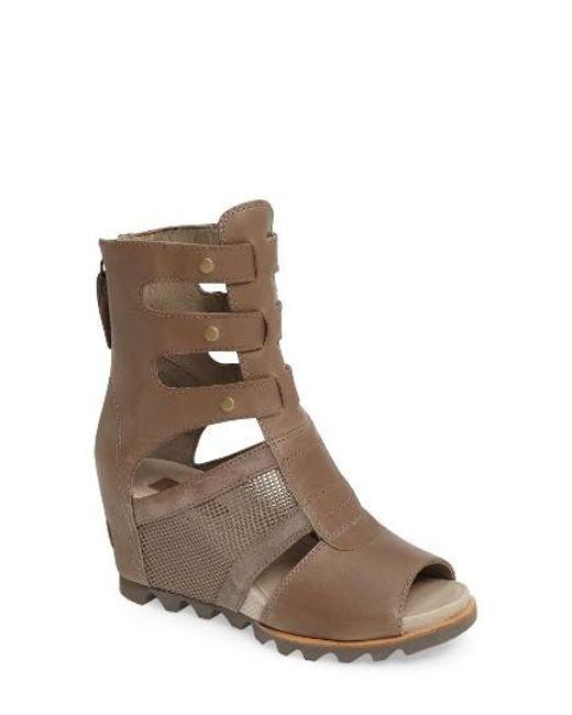 Sorel Joanie Gladiator Sandal In Brown Lyst