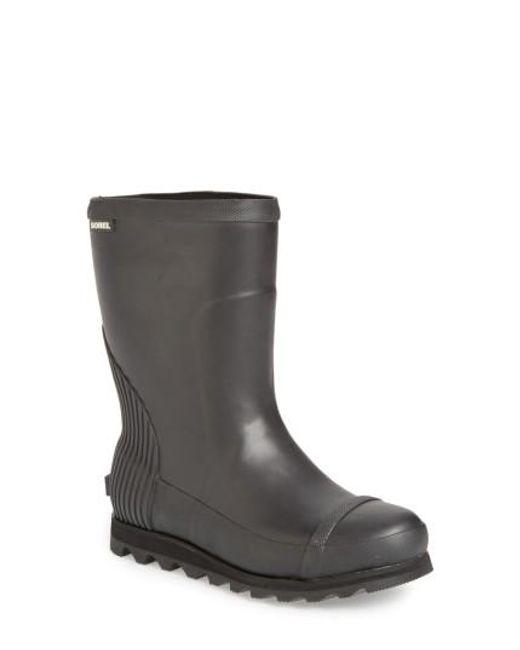 Sorel   Black Joan Short Rain Boot   Lyst
