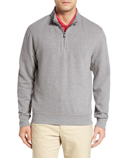 Cutter & Buck | Gray 'gleann' Quarter Zip Pullover for Men | Lyst