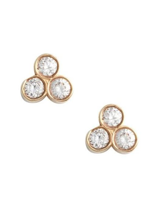 Zoe Chicco | Metallic Diamond Cluster Stud Earrings | Lyst