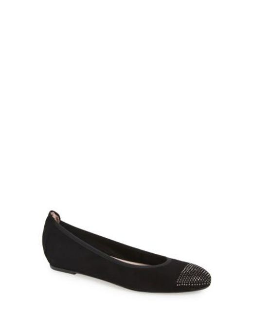 Patricia Green | Black 'Starr' Studded Ballet Flat | Lyst