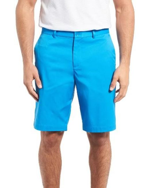 Nike | Blue Flat Front Golf Shorts for Men | Lyst