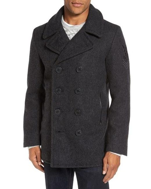 Schott Nyc | Multicolor Embroidered Wool Blend Peacoat for Men | Lyst