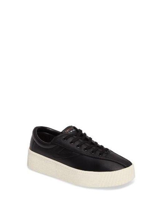Tretorn | Black Bold Perforated Platform Sneaker | Lyst