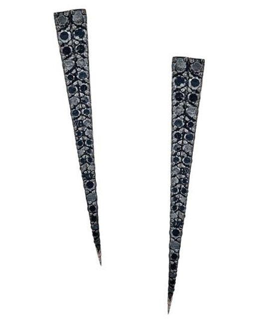 Lana Jewelry | Black 'reckless' Diamond Spike Earrings | Lyst