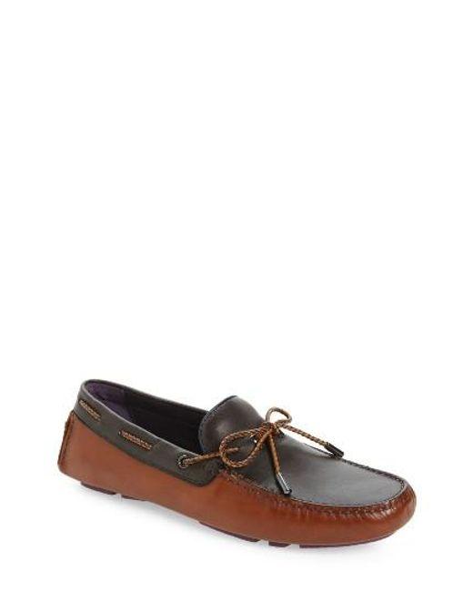 Ted Baker   Brown Melato Driving Shoe for Men   Lyst