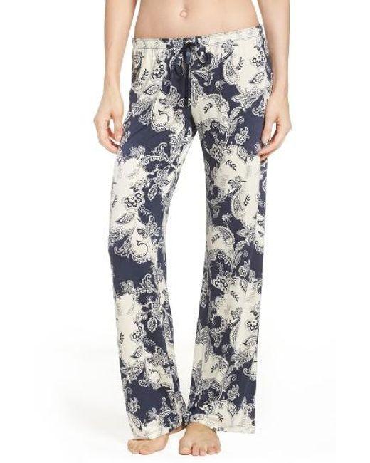 Pj Salvage   Blue Pajama Pants   Lyst